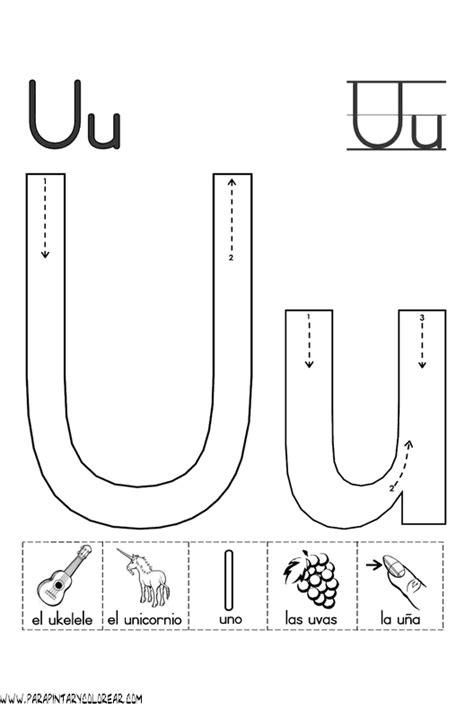 imagenes que empiecen con la letra u mayuscula el abecedario dibujos para colorear ciclo escolar