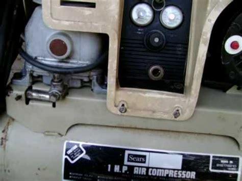 sears air compressor youtube