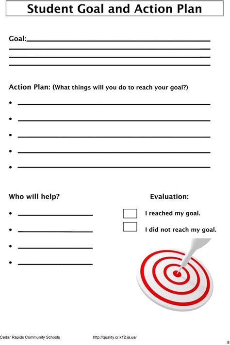 goal sheet template for students student goals the leader in me and the seven habits