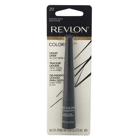 Eye Liner Revlon colorstay liquid eyeliner 251 blackest black by revlon