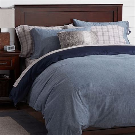 chambray bedding relaxed chambray duvet sham pbteen
