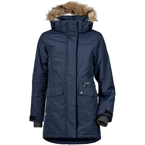 Zhoey Navy didriksons zoe parka navy from great outdoors uk