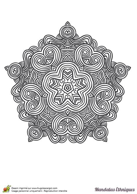 Motifs Orientaux à Imprimer by Coloriage Mandala Ethnique Hexagone Et Courbes