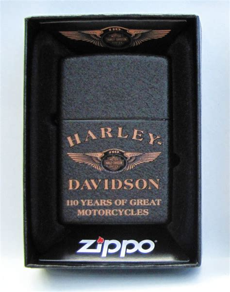 Harley Davidson Zippo Lighter by Harley Davidson 110th Anniversary Zippo Lighter Made In