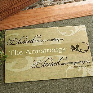 Christian Doormats by You Are Blessed Personalized Religious Doormat 17 20