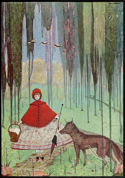 little red riding hood and wolf illustration file page 24 illustration from fairy tales of charles