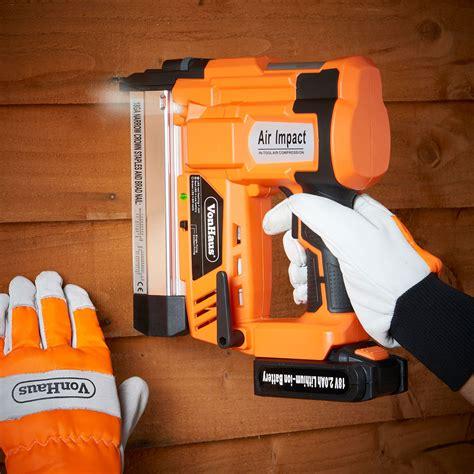 heavy duty electric staple gun vonhaus cordless electric heavy duty 2 in 1 nail staple