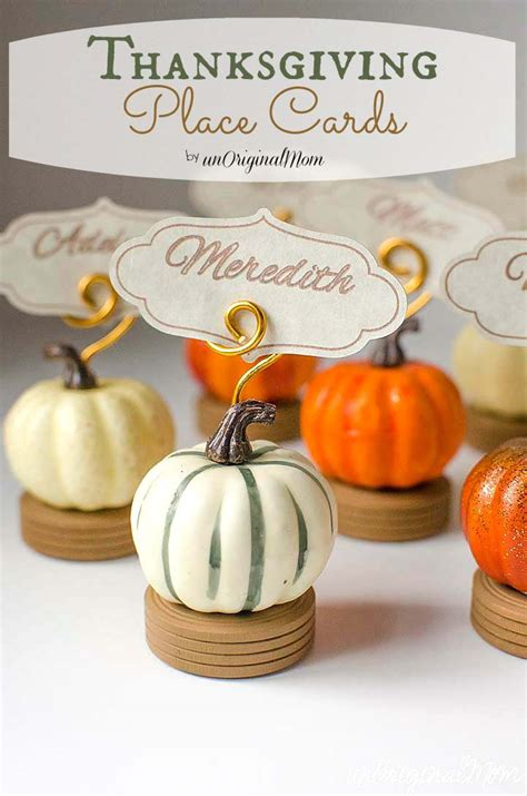 Thanksgiving Gift Card Holders - thanksgiving place card holders unoriginal mom