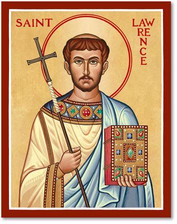 men saint icons: st. lawrence icon | monastery icons