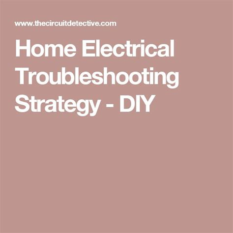 17 best ideas about electrical troubleshooting on