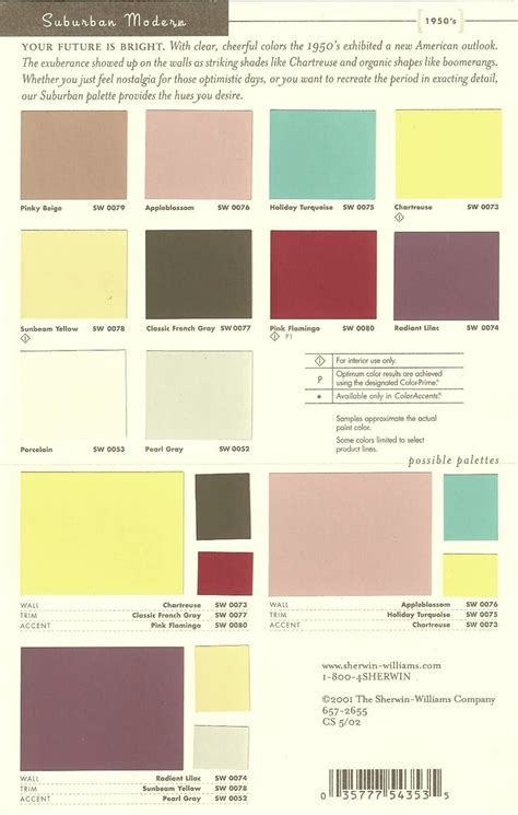 sherwin williams quot suburban modern quot 50 s color palette living room ideas paint