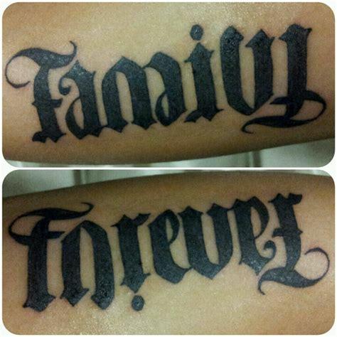 family tattoo ambigram family forever ambigram tattoos www imgkid com the