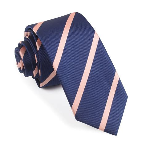 navy blue with stripes tie slim thin ties