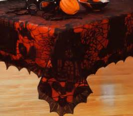 round halloween tablecloth halloween black spider web lace haunted house bat fabric