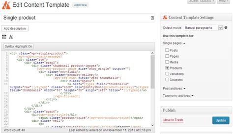 Custom Single Product Template Woocommerce Views Tutorial Single Product Ecommerce Website Template