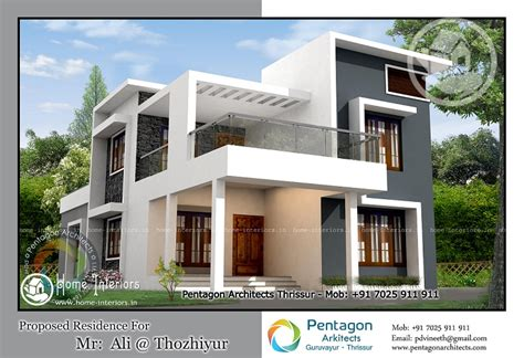 home design 2261 sq ft contemporary kerala home design home interiors
