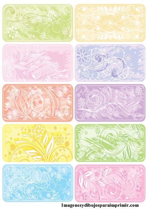 imagenes para etiquetas escolares juveniles etiquetas de flores para imprimir