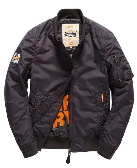 Promo Jaket Pilot Hodie new mens superdry rsd lite pilot bomber jacket washed black ebay