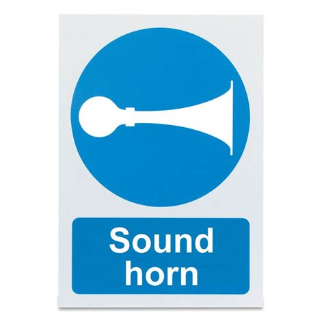 Stiker Horn Warning Sign sound horn warning sign sports supports mobility healthcare products