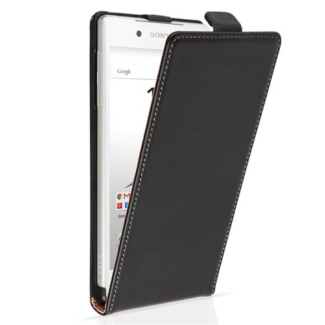 Leather Flip Sony Xperia Z5 caseflex sony xperia z5 real leather flip black