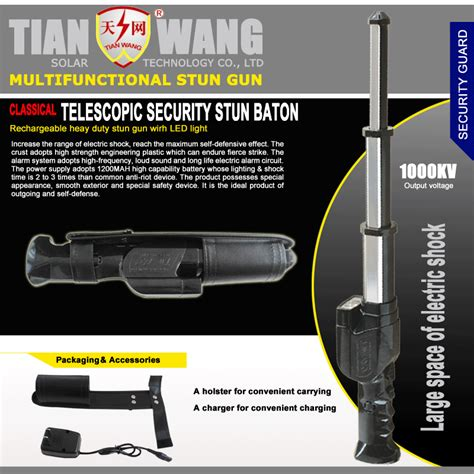 Stun Gun Baton Tw 09 china telescopic security stun baton with alarm for korean market tw 09 stun guns china