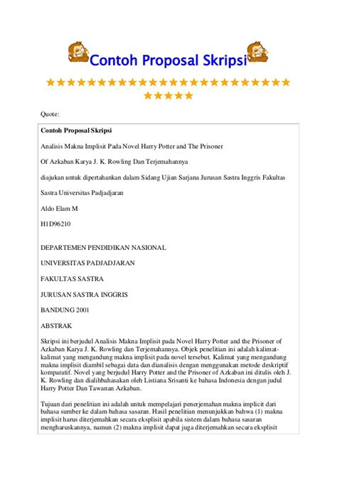 contoh layout proposal skripsi contoh proposal skripsi