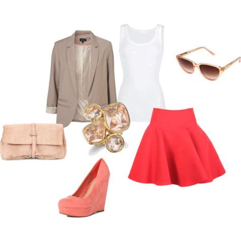 Blazer Wedges 3 taupe blazer white tank pink skirt coral wedges via o brien johnson products i