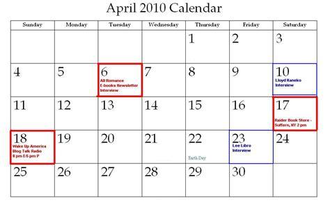 April 2010 Calendar The Writings Ramblings Of A Philadelphian March 2010