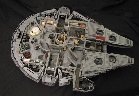 interior layout of millennium falcon star wars lego millennium falcon with full interior