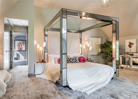mirrored canopy bed kate moss designs the interiors of a 3 8 million