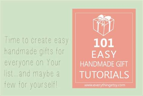 Handmade Gifts Tutorials - 101 easy handmade gift tutorials slider image