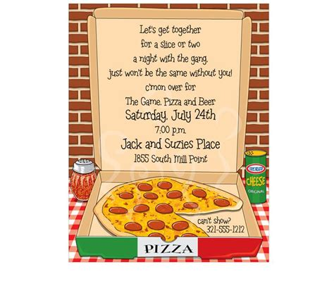 printable pizza party invitation template hot pizza invitation sheets