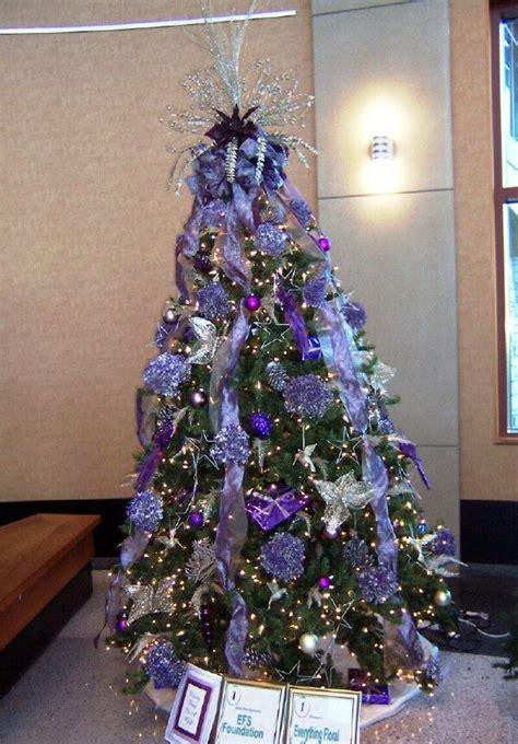 purple themed tree christmas tree theme ideas pinterest