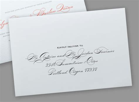 Addressing Wedding Invitations By