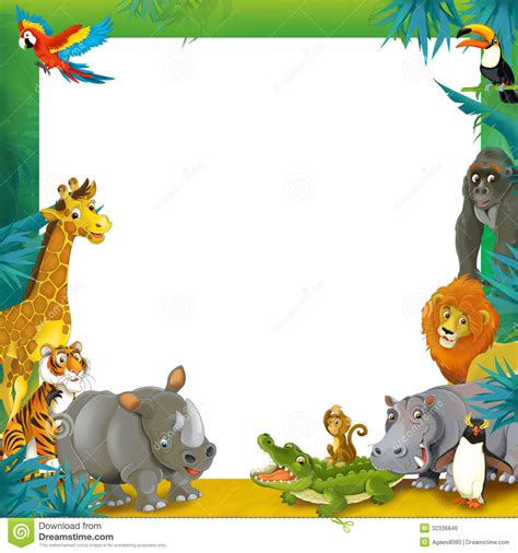 safari clipart zoo clipart frame pencil and in color zoo clipart frame