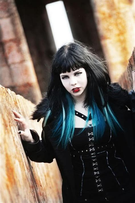 old goth bangs hairstyle 17 best images about hair on pinterest turquoise blonde