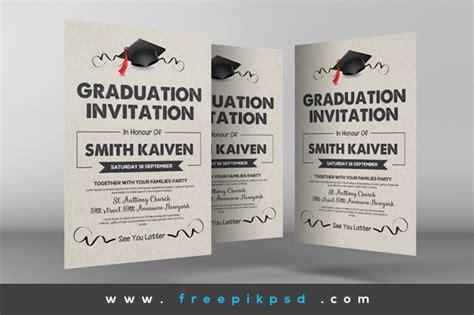 Graduation Card Template Landscape Psd by Free Graduation Invitation Cards Psd By Designhub719 On