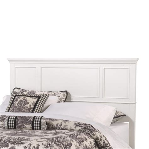 wood panel headboard home styles naples king panel headboard in white wood