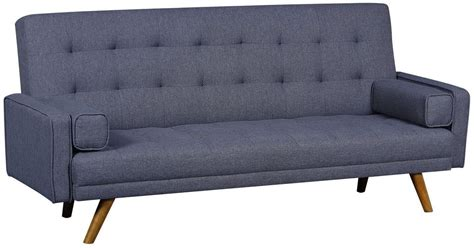 mid century tufted sofa mid century gray biscuit tufted click sofa from pulaski