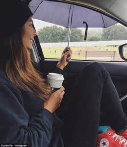 star and car pia miller home and away s pia miller cheers on her sons during soggy