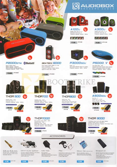 Speaker Audio Box Thor 7000 audiobox speakers accessories a100u a300u p2000btmi