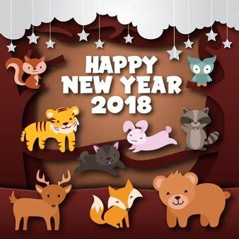 new year 2018 animal tiger tiger vectors photos and psd files free
