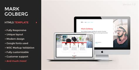 mg freelance portfolio resume one page html5 template