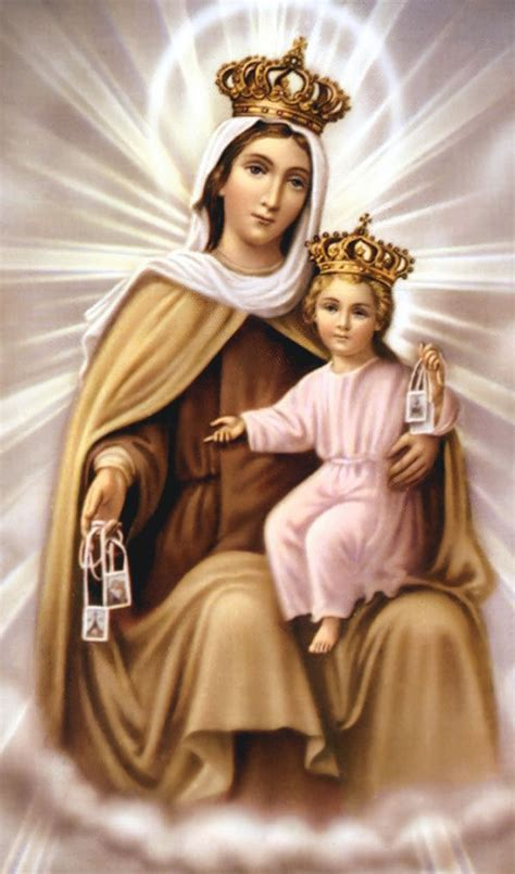 oracion  la virgen del carmen magia angelica