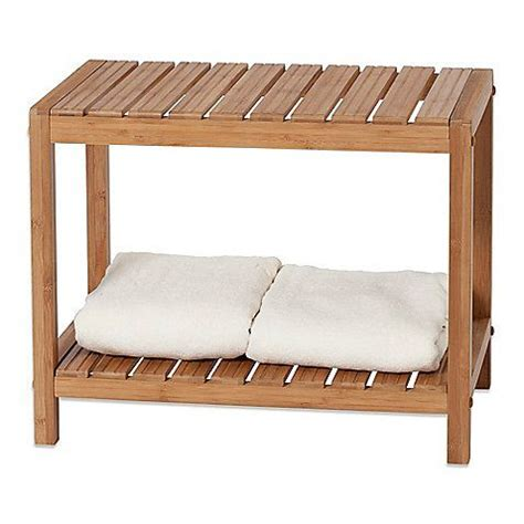 bamboo spa bench the handcrafted 2 foot bamboo spa bench is both practical
