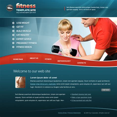 website templates for gym 6168 sports fitness website templates dreamtemplate