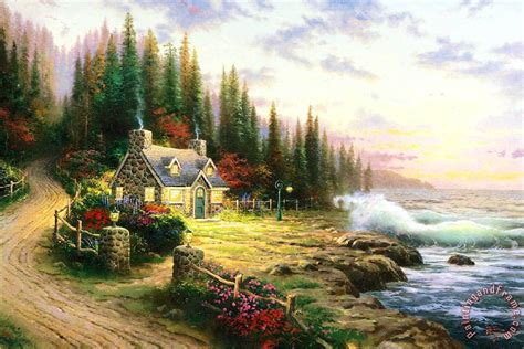 kinkade cottage painting the gallery for gt kinkade paintings cottage