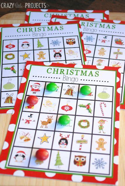 free printable christmas games bingo 30 awesome christmas games for kids