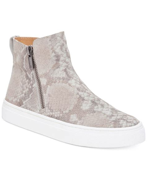 lucky top shoes lucky brand s bayleah high top sneakers in gray lyst