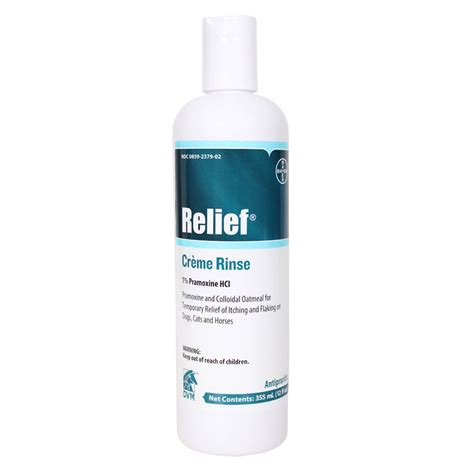 relief for dogs relief creme rinse for dogs cats and horses